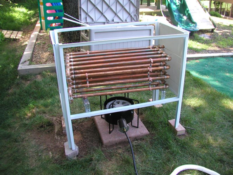 Pool heater - Homemade swimming pool heat exchanger ...
